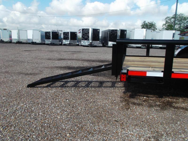 2020 Longhorn Trailers 16ft Utility Trailer w/ Pipetop / 5ft Stow Away Ramps / Electric Brakes