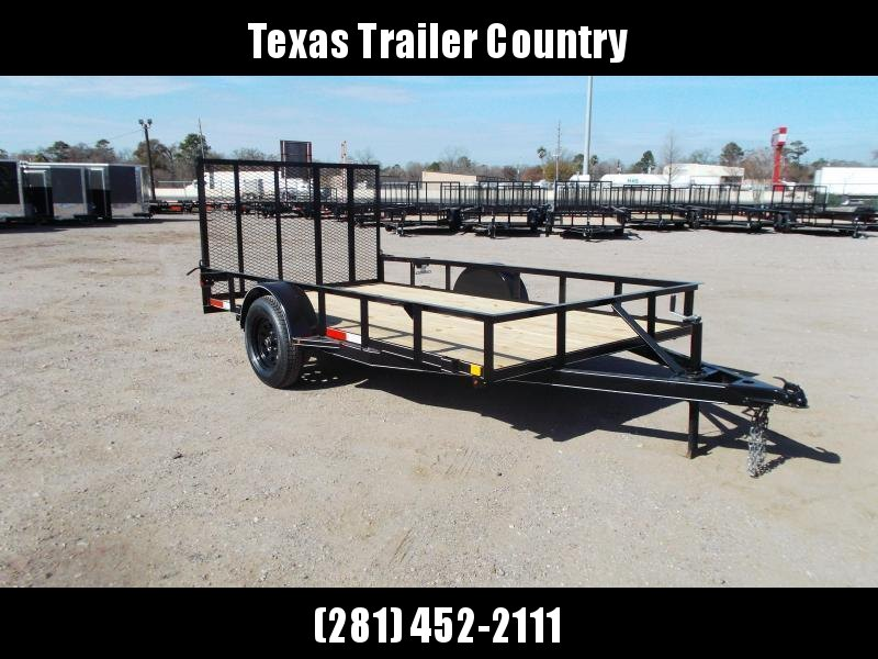 2021 TTC 77x12 Single Axle Utility Trailer / Wrap Tongue / 4ft Ramp Gate