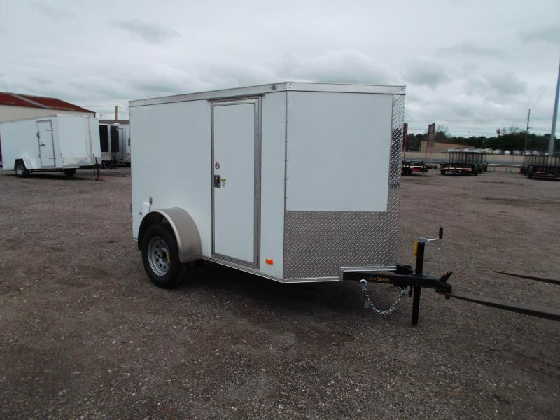 2021 Covered Wagon Trailers 5x8 Single Axle Cargo Trailer / Enclosed Trailer / LED's / Barn Doors / Semi-Screwless Exterior