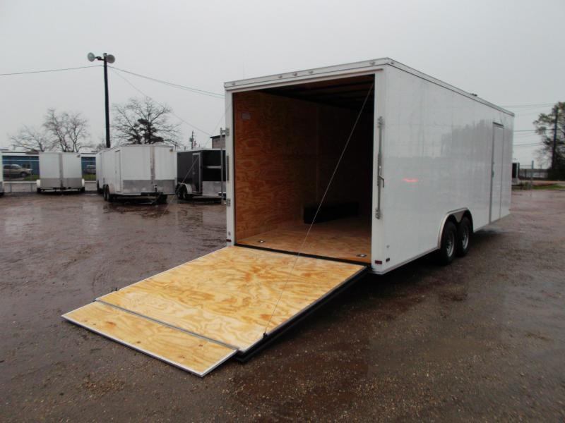 "SPECIAL - 2020 Covered Wagon Cargo 8.5x24 Tandem Axle Cargo Trailer / Car Hauler w/ 6'6"" Interior / 5200# Axles / Heavy Duty Ramp / RV Side Door / LEDs"