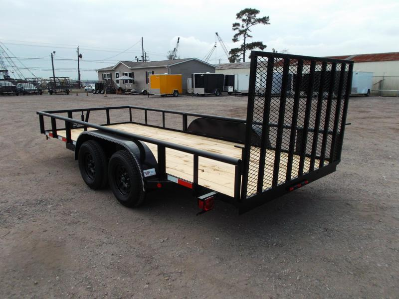 2021 Longhorn Trailers 16ft Utility Trailer / Pipetop / 4ft Ramp Gate / Electric Brakes