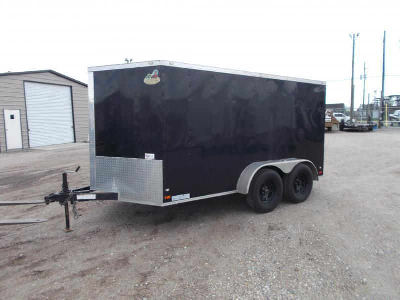SPECIAL - 2020 Covered Wagon Trailers 7x12 Motorcycle Trailer / Cargo Trailer / Ramp / RV Door / LEDs / (8) D-Rings