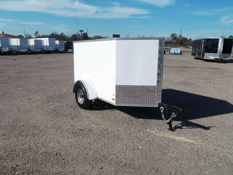 2021 Covered Wagon Trailers 4x6 Single Axle Cargo Trailer / Enclosed Trailer / LEDs / Radials / 1 Piece Roof / Semi-Screwless Exterior