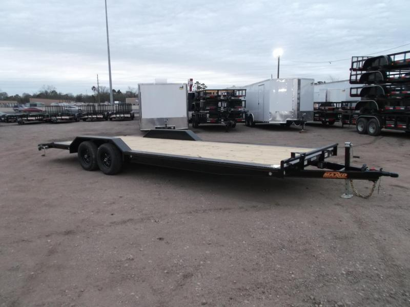 2021 Maxxd 102x24 10K H5X Car Hauler / Flatbed Trailer / Equipment Hauler / Powder Coated / 5200# Axles / Drive Over Fenders