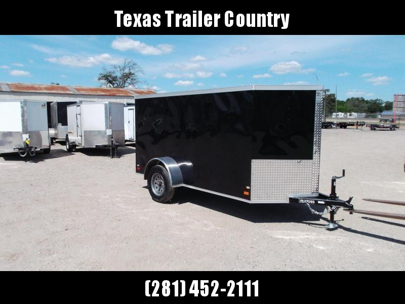 2021 Covered Wagon Trailers 5x10 Single Axle Cargo / Enclosed Trailer / Ramp / LED's / Semi-Screwless Exterior