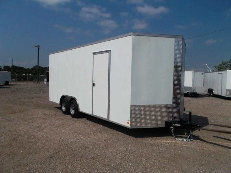 "2021 Covered Wagon Trailers 8.5x20 Tandem Axle Cargo / Enclosed Trailer / 7'6"" Interior Height / Ramp / 5200# Axles / LEDs"