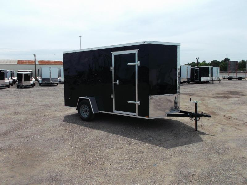 2020 Prime 6x12 Single Axle Cargo Trailer / Enclosed Trailer / 6ft Interior Height / Ramp / Side Door / LEDs