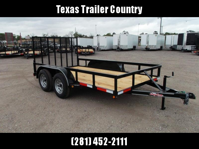 2021 Longhorn Trailers 12ft Tandem Axle Utility Trailer w/ Heavy Duty 4ft Ramp Gate
