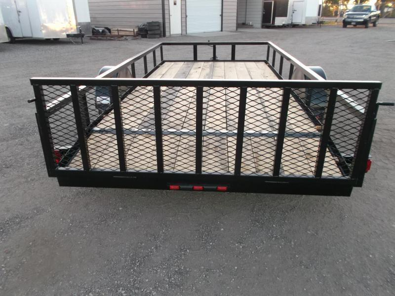 2021 Longhorn Trailers 77x14 Single Axle Utility Trailer w/ 2ft Dovetail / 2ft Ramp Gate