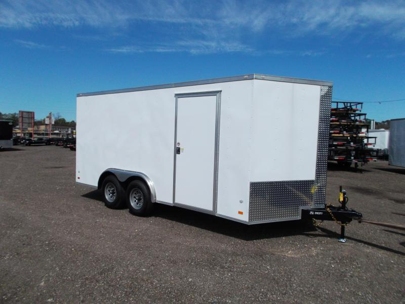 2021 Covered Wagon Trailers 8x16 Tandem Axle Cargo / Enclosed Trailer / Ramp / RV Side Door / LEDs