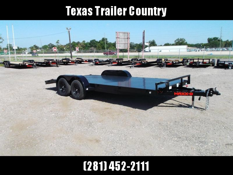 2021 Maxxd 83x18 Steel Deck Car Hauler / Racing Trailer / Powder Coated / 5ft Ramps / 2ft Dovetail / Radial Tires / D-Rings