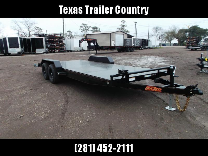 2021 Maxxd 83X20 10K Steel Deck Car Hauler / Racing Trailer / Powder Coated / 5200# Axles / 2ft Dovetail / Steel Deck