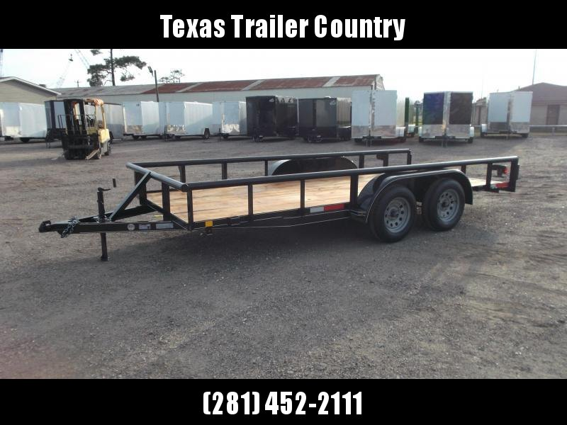 2021 TTC 77x16 Utility Trailer / Lowboy Trailer / 5ft Slide Out Ramps / Pipetop