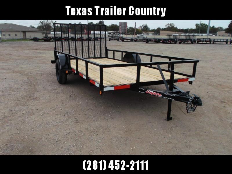2021 Longhorn Trailers 77x14 Single Axle Utility Trailer w/ 4ft Heavy Duty Ramp Gate