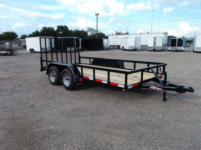 2021 Longhorn Trailers 14ft Utility Trailer w/ Heavy Duty 4ft Ramp Gate