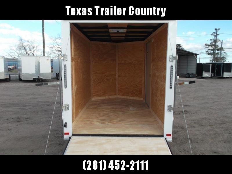 "2022 Covered Wagon Trailers 6x10 Single Axle Cargo Trailer / Enclosed Trailer / Ramp / 6'3"" Interior / RV Side Door / LEDs / Semi-Screwless Exterior"