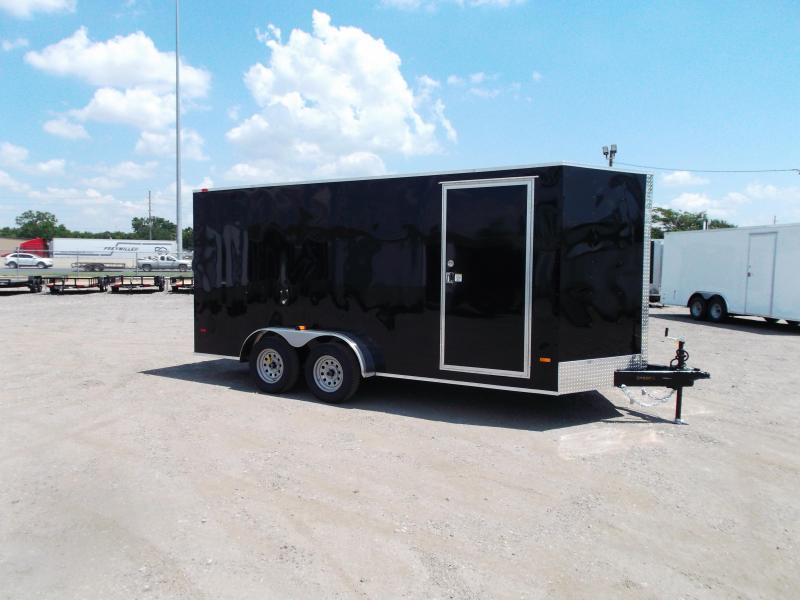 SPECIAL - 2020 Covered Wagon Trailers 7x16 Tandem Axle Cargo Trailer / Enclosed Trailer / 6ft Interior / Ramp / RV Side Door