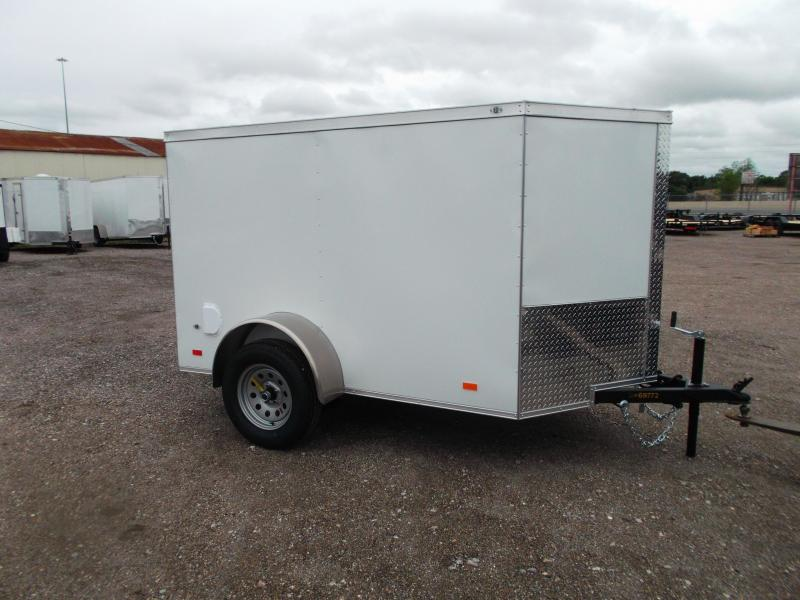 2021 Covered Wagon Trailers 5x8 Single Axle Cargo Trailer / Enclosed Trailer / Ramp / LEDs / Semi-Screwless Exterior
