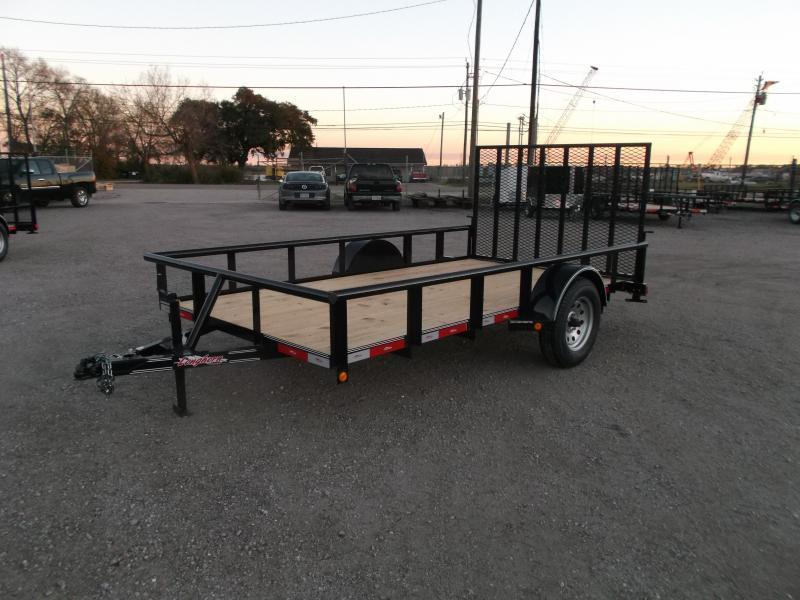 2021 Longhorn Trailers 77x12 Single Axle Utility Trailer / Pipetop / Heavy Duty 4ft Ramp Gate