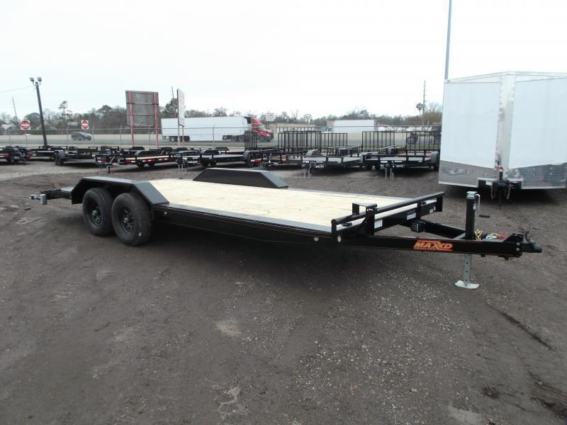 "2021 Maxxd 102""x20' 14K Car Hauler / Racing Trailer / Flatbed / Drive Over Fenders / 7000# Axles / Powder Coated / LEDs"