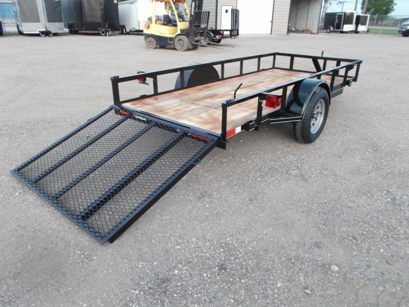 2021 TTC 5x12 Utility Trailer / Wrap Tongue Upgrade / 4ft Ramp Gate