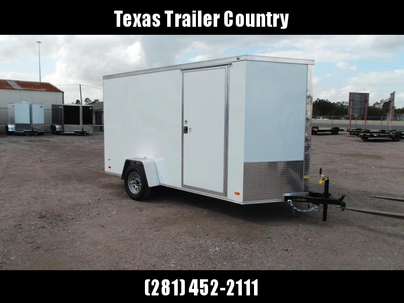 """2021 Covered Wagon Trailers 6x12 Single Axle Cargo Trailer / Enclosed Trailer / 6'6"""" Interior Height / Ramp / RV Side Door / LEDs / Semi-Screwless Exterior"""
