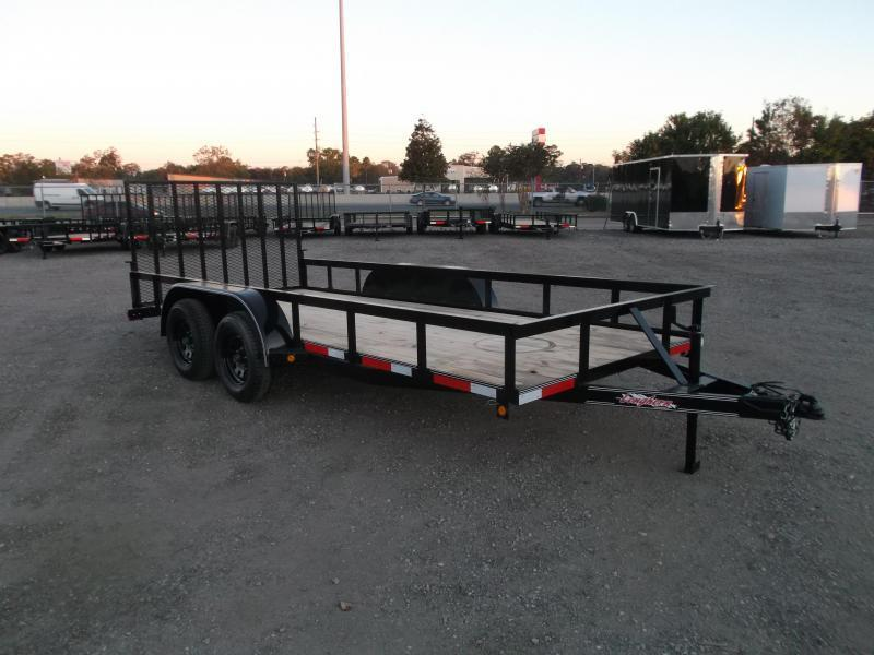 2021 Longhorn Trailers 16ft Utility Trailer w/ 4ft Heavy Duty Ramp