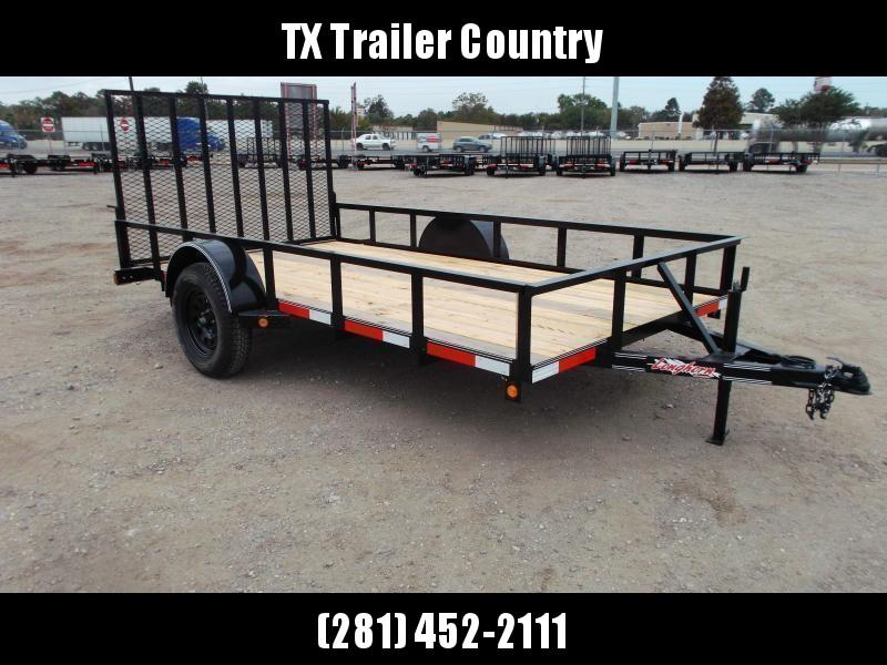 2021 Longhorn Trailers 77x12 Single Axle Utility Trailer w/ Heavy Duty 4ft Ramp
