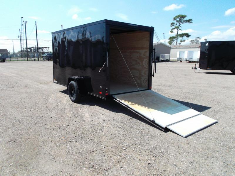 2021 Covered Wagon Trailers 6x12 Single Axle Cargo / Enclosed Trailer / Black Out Package / Ramp Gate / RV Side Door / LEDs