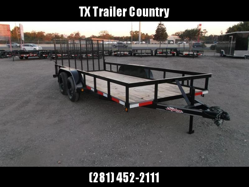 2021 Longhorn Trailers 14ft Utility Trailer w/ 4ft Heavy Duty Ramp