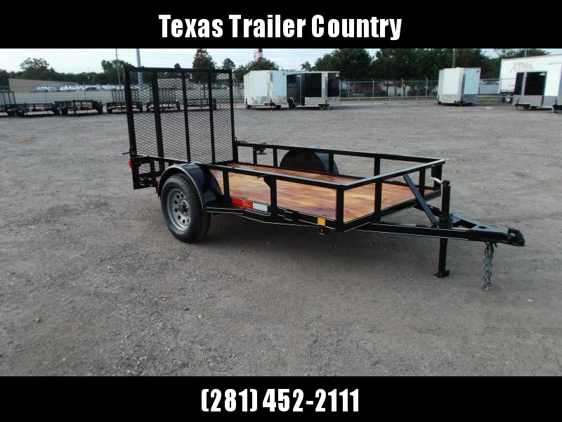 2021 TTC 5x10 Utility Trailer / Wrap Tongue / 4ft Ramp Gate