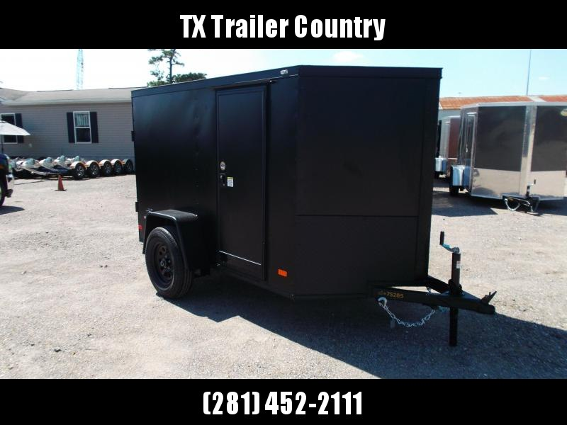 2022 Covered Wagon Trailers 5x8 Single Axle Cargo / Enclosed Trailer / Barn Doors / RV Side Door / LEDs / Semi-Screwless Exterior / Powder Coat Skin / Black Out Package