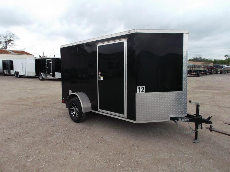SPECIAL - 2019 Covered Wagon Trailers 6x10 Cargo Trailer / Motorcycle Trailer / Ramp / D-Rings / Side Door / Bar Lock / LEDs