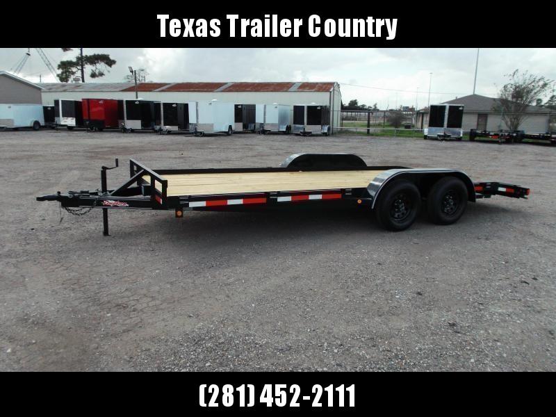 2021 Longhorn Trailers 83x18 7K Car Hauler Trailer / Race Car Trailer / 2ft Dovetail / 5ft Ramps / Brakes