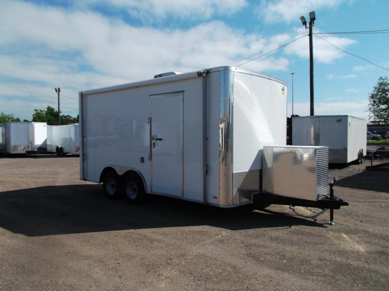 2020 Covered Wagon Trailers 8.5x16 Tandem Axle Custom Enclosed Race Trailer / Enclosed Car Hauler Trailer
