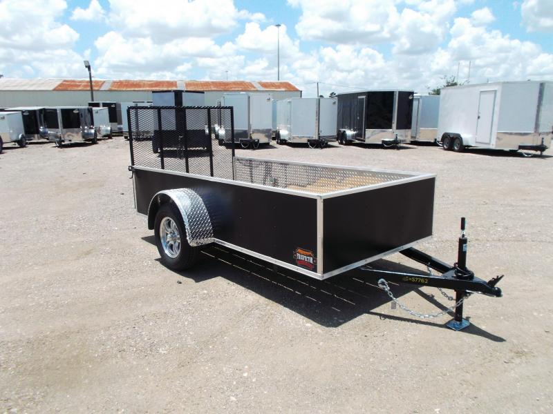 2020 Covered Wagon Prospector 5x10 Single Axle Utility Trailer / Ramp / Mag Wheels / ATP Fenders / D-rings / LEDs