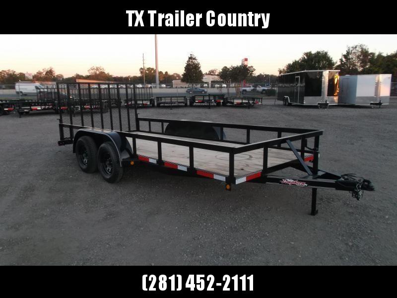 2021 Longhorn Trailers 16ft Utility Trailer w/ 4ft Heavy Duty Ramp
