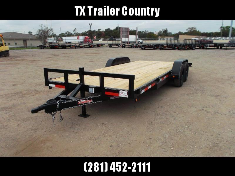 2021 Longhorn Trailers 83x20 Tandem Axle 10K Car Hauler / Racing Trailer / Flat Deck / 5200# Axles / 7K Jack / 2ft Dovetail / 5ft Ramps