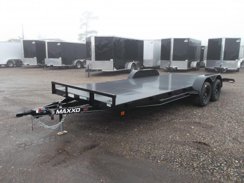2021 Maxxd 83x18 Steel Deck Car Hauler / Racing Trailer / Powder Coated / 5ft Ramps / 2ft Dovetail / Radial Tires