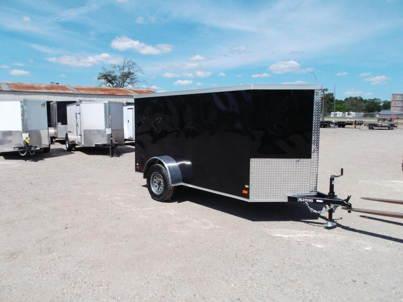 2020 Covered Wagon Trailers 5x10 Single Axle Cargo / Enclosed Trailer / Ramp / Semi-Screwless Exterior / LED's