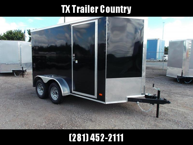 "SPECIAL - 2022 Covered Wagon Trailers 6x12 Tandem Axle Cargo Trailer / Enclosed Trailer / 6'6"" Interior / Barn Doors / RV Door / LEDs / Black Semi-Screwless Exterior"