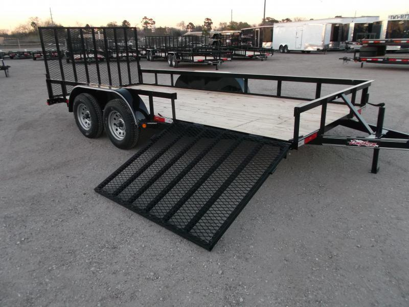 2021 Longhorn Trailers 83x16 Utility Trailer / ATV Trailer / Side by Side Trailer / 4ft Rear Ramp / 4ft Side Load Ramp