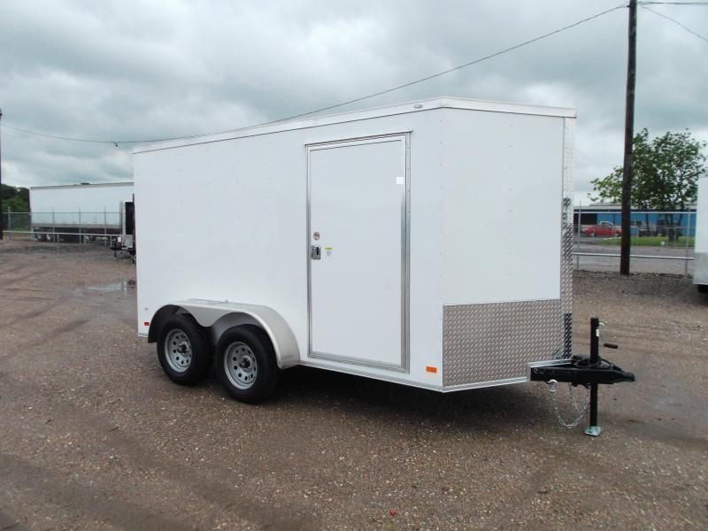2021 Covered Wagon Trailers 6x12 Tandem Axle Cargo Trailer / Enclosed Trailer / Ramp / RV Door / LEDs