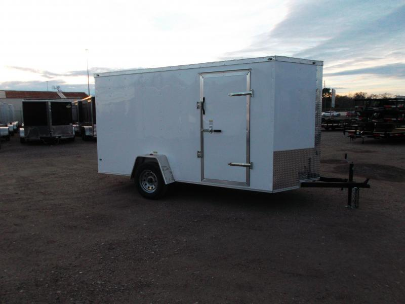 "2021 Texas Select 6x12 Single Axle Cargo Trailer / Enclosed Trailer / 6'3"" Interior / Barn Doors / Side Door / LEDs"