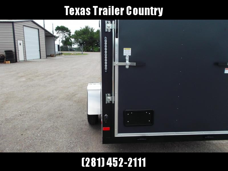 """2021 Covered Wagon Trailers 6x12 Single Axle Cargo Trailer / Enclosed Trailer / 6'6"""" Interior Height / Ramp / RV Side Door / LEDs / Semi-Screwless Exterior / Charcoal Gray Powder Coated Skin"""