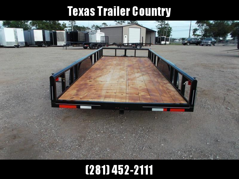 2021 TTC 83x20 Utility Trailer / Lowboy Trailer / 5ft Slide Out Ramps / Electric Brakes / Pipetop