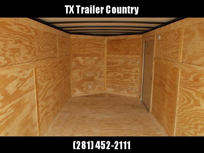 "SPECIAL - 2022 Covered Wagon Trailers 7x16 Tandem Axle Cargo Trailer / Enclosed Trailer / 6'3"" Interior / Ramp / RV Door / LEDs / Black Powder Coated Skin / Semi-Screwless Exterior"