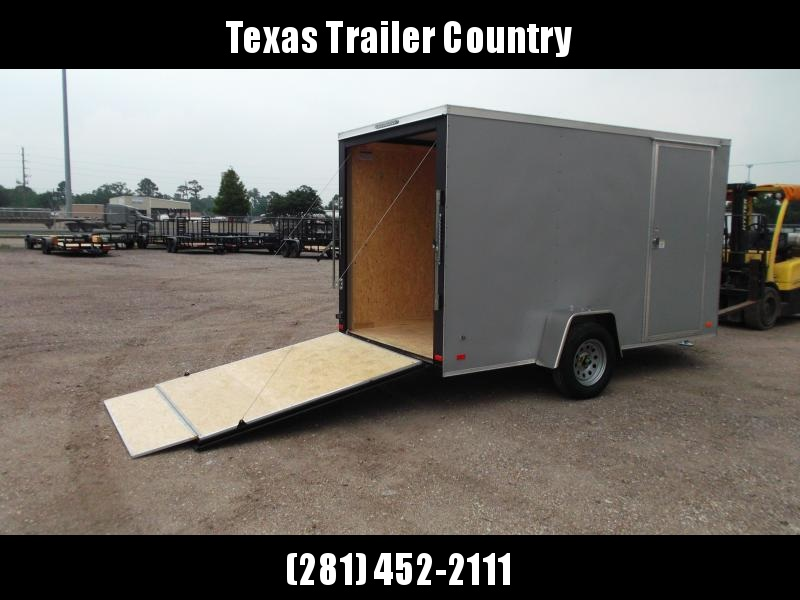 """2021 Covered Wagon Trailers 6x12 Single Axle Cargo / Enclosed Trailer / Ramp / RV Door / 6'6"""" Interior / LEDs / Semi-Screwless Exterior / Silver Powder Coated Skin"""