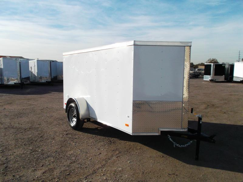 2021 Covered Wagon Trailers 5x10 Single Axle Cargo Trailer / Enclosed Trailer / Semi-Screwless Exterior / Ramp / LEDs
