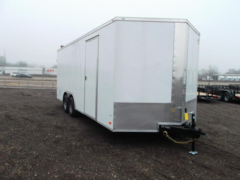 2020 Covered Wagon Trailers 8.5x20 Tandem Axle Cargo / Enclosed Trailer / Barn Doors / 7ft Interior Height / 5200# Axles / LEDs